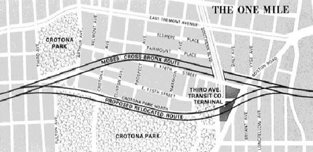 Afbeeldingsresultaat voor east tremont highway bronx map